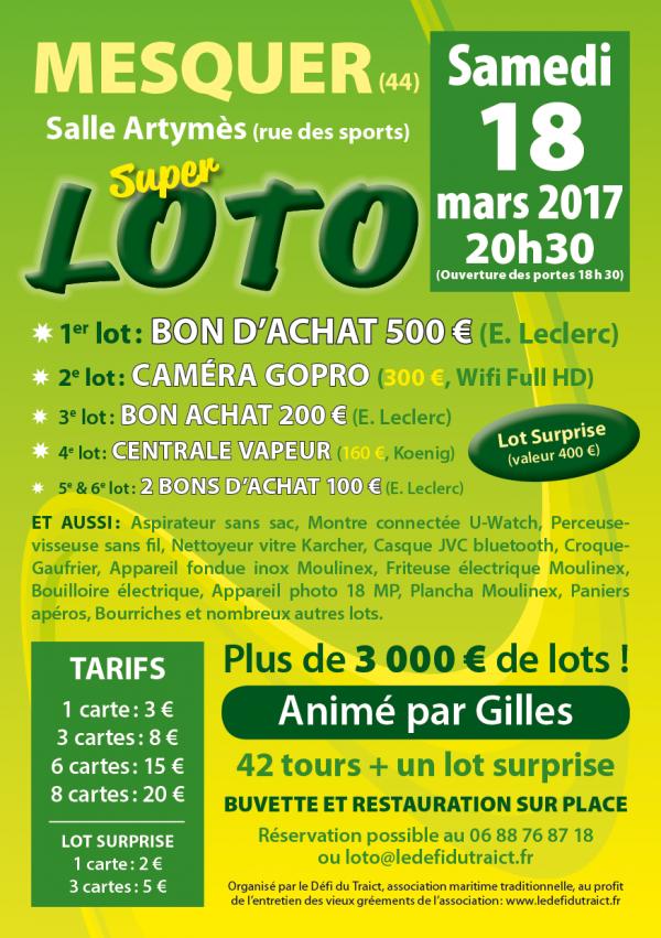 Grand loto à Mesquer le 18 mars 0217